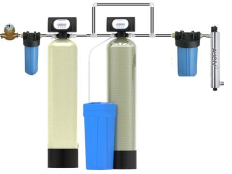 Схема установки оборудования комплексной системы фильтрации